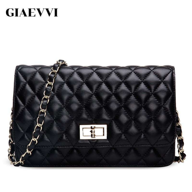 GIAEVVI women messenger bags genuine leather famous brands shoulder bag luxury handbag women crossbody bags designer handbags