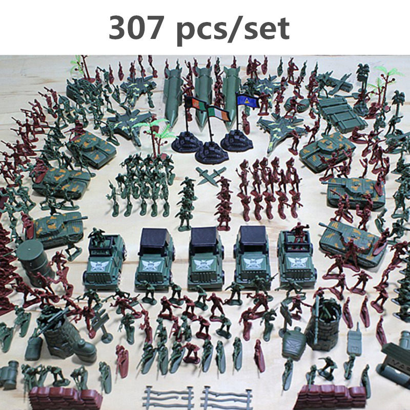 90PCS Military Playset Plastic Toy Soldiers Army Men Figures Accessories GW