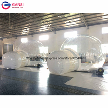 цена на Party event clear dome bubble tent ,new design inflatable camping tent with free blower