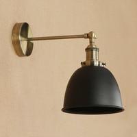 Yzkj 레트로 철 산업 벽 램프 읽기 블랙 로프트 벽 조명 led 식사 홈 조명기구 침실 lampara pared-에서LED 실내용 벽 램프부터 등 & 조명 의
