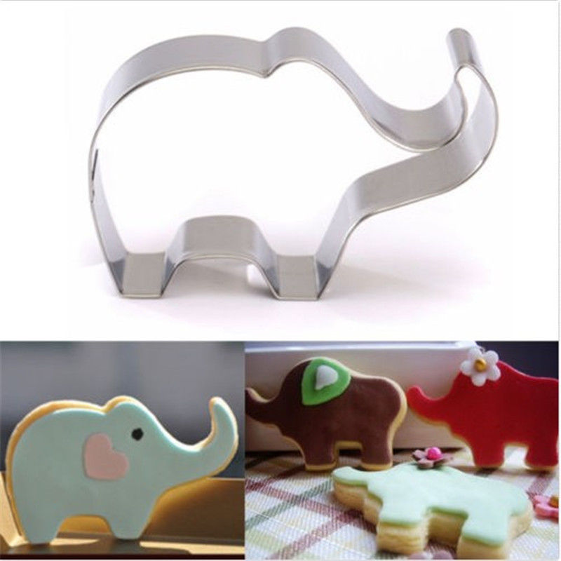 Elephant Cutter For Cake Decorating : Animal ELEPHANT Shape Metal Cutter Cookie Aluminium Alloy ...