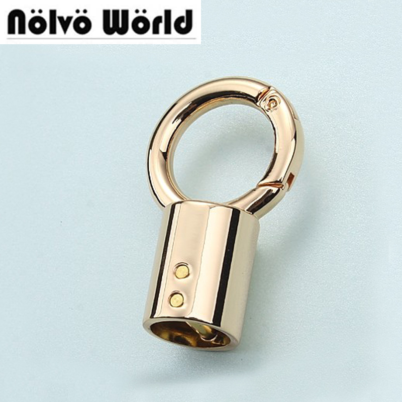 50*30mm light gold finished color die casting metal fitting hardware bags accessories screw connector hanger wholesale creeper water resistant travel oxford fabric wash bag light purple