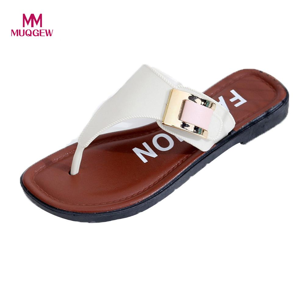 Women Summer Slipper Sandals Casual Beach Shoes Home ...