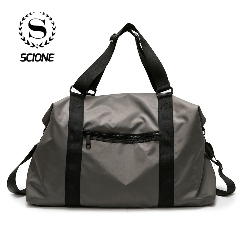 Scione Simple Solid Travel Bags Cabin Luggage Crossbody Hand Suitcase Men Women Large Capacity Classic Practical Shoulder Pack