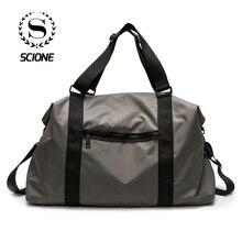 Купить с кэшбэком Scione Simple Solid Travel Bags Cabin Luggage Crossbody Hand Suitcase Men Women Large Capacity Classic Practical Shoulder Pack