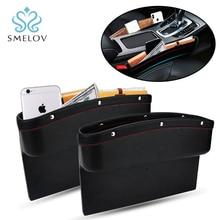 hot car seat pocket catcher auto car seat side gap pocket pu leather Sundries holder storage organizer bag box car accessories недорого