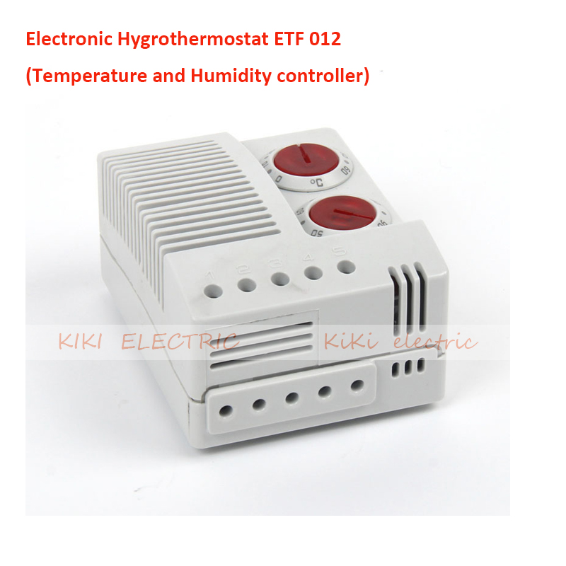 Electronic Hygrothermostat  ETF 012 Temperature and Humidity Controller Work for Industrial Electric Cabinet DIN Rail Mounted  цены