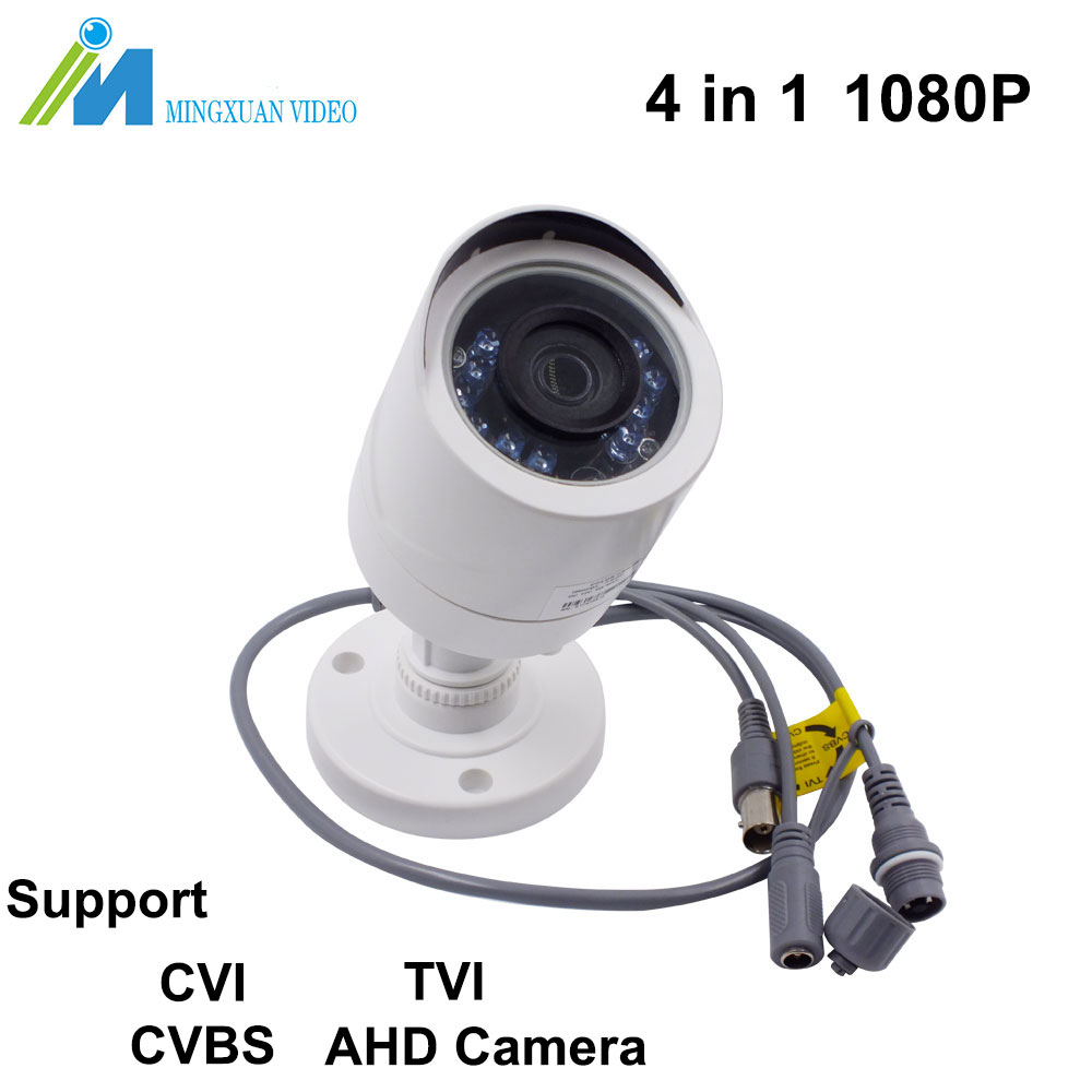 1920*1080 Full HD CCTV AHD Camera 2.0MP Plastic Waterproof IP66 Outdoor LEDS Security Surveillance Camera IR Cut Support CVI TVI
