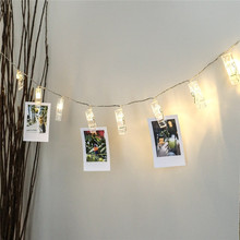 AGM LED String Light Garland gerlyanda Photo Clip Luminaria Battery Fairy Christmas New Year Lights Wedding For Home Decoration
