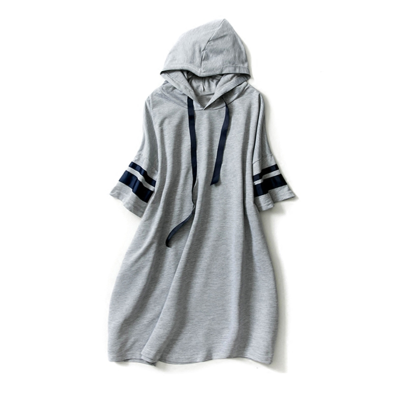Maternity clothing spring and summer new literature art loose leisure Mori girl hoodie sweater big large size long T-shirt dress