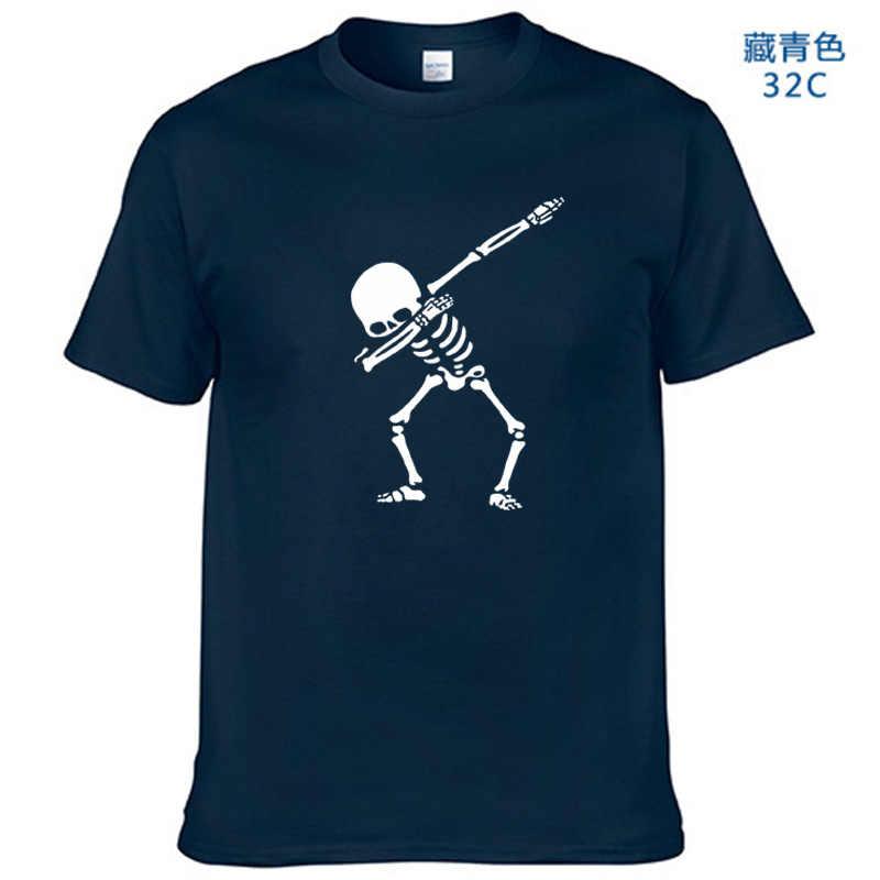 2019 Top In Cotone di Qualità Tamponando Mens di Scheletro T-Shirt 13 colori Camicette Uomini Divertente Skull T Camicette
