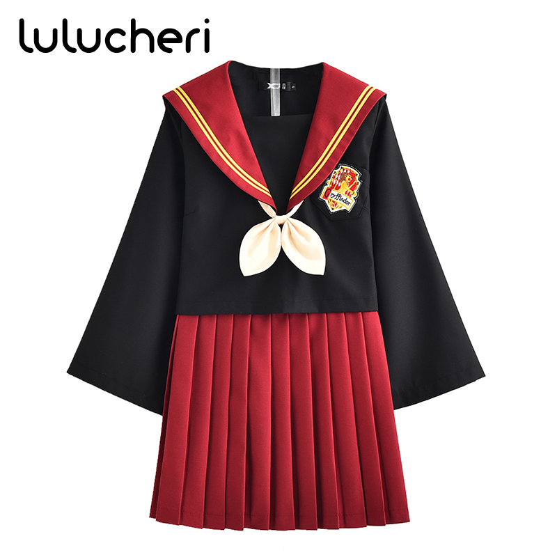 Anime Potter Cosplay Costume Automne Poudlard Uniforme Scolaire Pour Les Femmes Filles Étudiants Costume de Marin Robe Gryffondor Uniformes JK