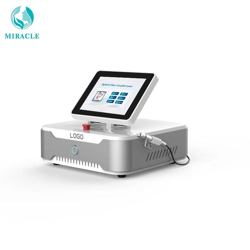 2018 Beijing miralce 980nm diodo laser portátil máquina de terapia vascular/remoção de embarcações de sangue vermelho