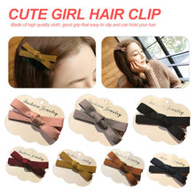 New Bowknot Hairpins Hair Barrettes Children Accessories For Women Cute Girls Headwear Bow Boutique Solid Clips