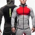 2017 Fitness Men Hoodies Gymshark Brand Clothing Men Hoody Zipper Casual Sweatshirt Muscle Men's hoodies Fit Hooded Jackets