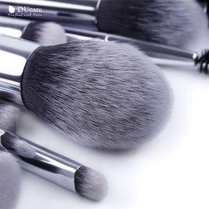 Image 3 - Ducare 17 pçs pincéis de maquiagem conjunto fundação pó sombra sobrancelha escovas para maquiagem kit de ferramentas cosméticos