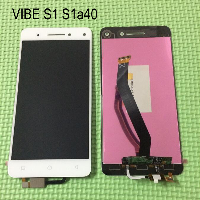 WHITE Full LCD Display Touch Screen Digitizer Assembly For Lenovo vibe s1a40 s1c50 Replacement Repair Parts + Tracking NO