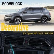 Автомобиль-Стайлинг для VW Tiguan 2017 2018 для Volkswagen VW Tiguan 2 MK2 2016 воздуха Dashboard розетки отделкой наклейки Чехлы для мангала Интимные аксессуары