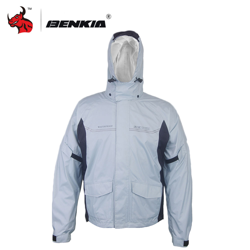 BENKIA Women/Men Suit Rain Coat Moto Riding Two-piece Raincoat Suit Motorcycle Raincoat Rain Pants Suit Riding Raincoat  reflective raincoat rain pants waterproof single raincoat men and women for riding working free shipping