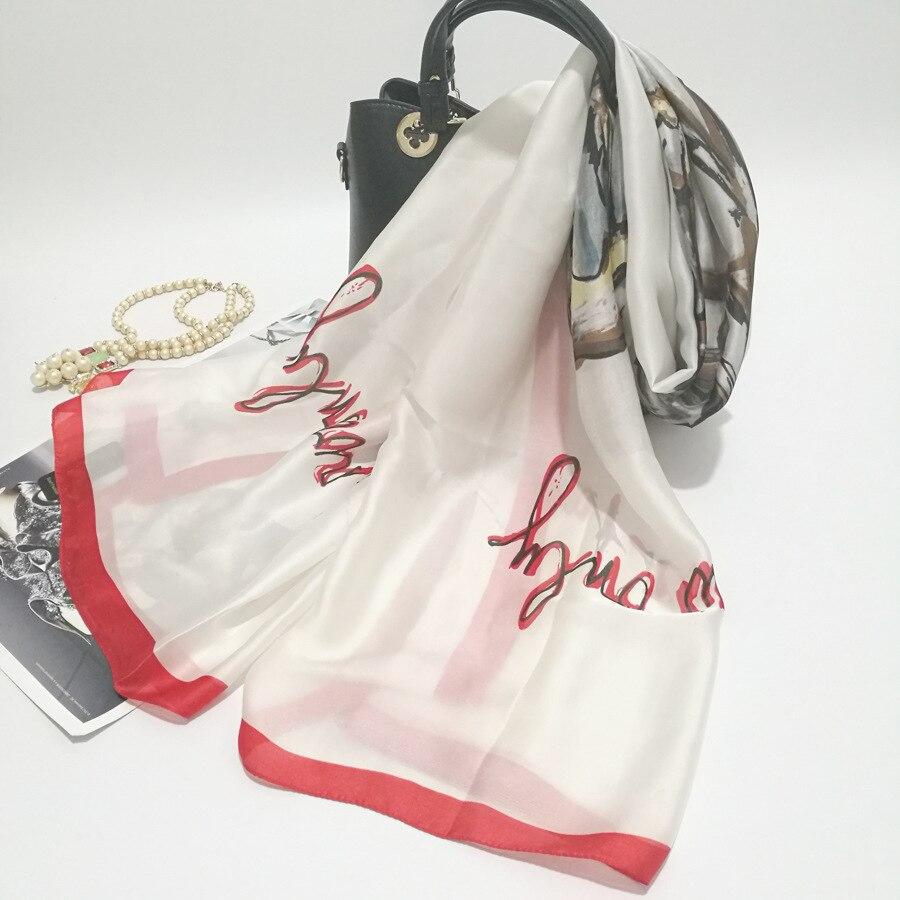 Well-Educated Phertiful Silk Scarf Print Chair Wrap Scarves Foulard Shawl Hijab Luxury Brand Bufandas Cape Head Scarves Oversize Beach Towel 2019 Latest Style Online Sale 50% Apparel Accessories