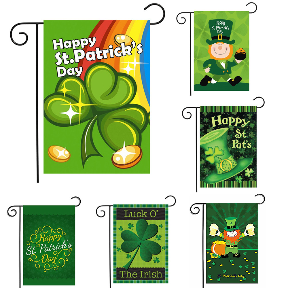 2018 New Fashion St. Patrick's Day Garden Flags House ...