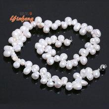 [Yinfeng] 6-7mm AAA Perfectamente Gris Perla de Agua Dulce Del Collar de la Alta Calidad