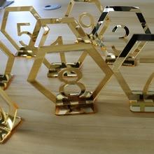 Стол для чисел и символов для свадебной вечеринки декор, серебристый или золотистый акриловый номер, римские цифры геометрический Бохо центральный