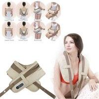 electric massager back neck shoulder massager vibrator beating knock waist anti celulite massager back body massage belt tools