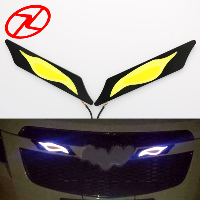 2pcs 12V COB LED DRL Car Daytime Running Light Fog Driving Lamp with Turning signal Daylight 2pcs 12w h3 xenon 480lm white cre eled car auto drl parking driving running lamp fog light head lamp 4 led drl daylight kit