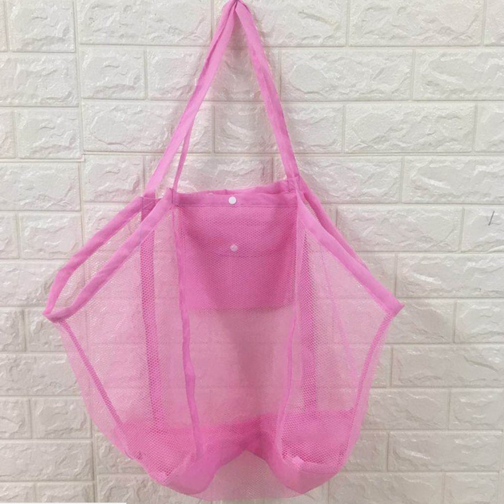 Extra Large Capacity Sand Free Mesh Bag Children's Beach Toys Storage Bag Swimming Bags Perfect For Holding Children Toys Bag