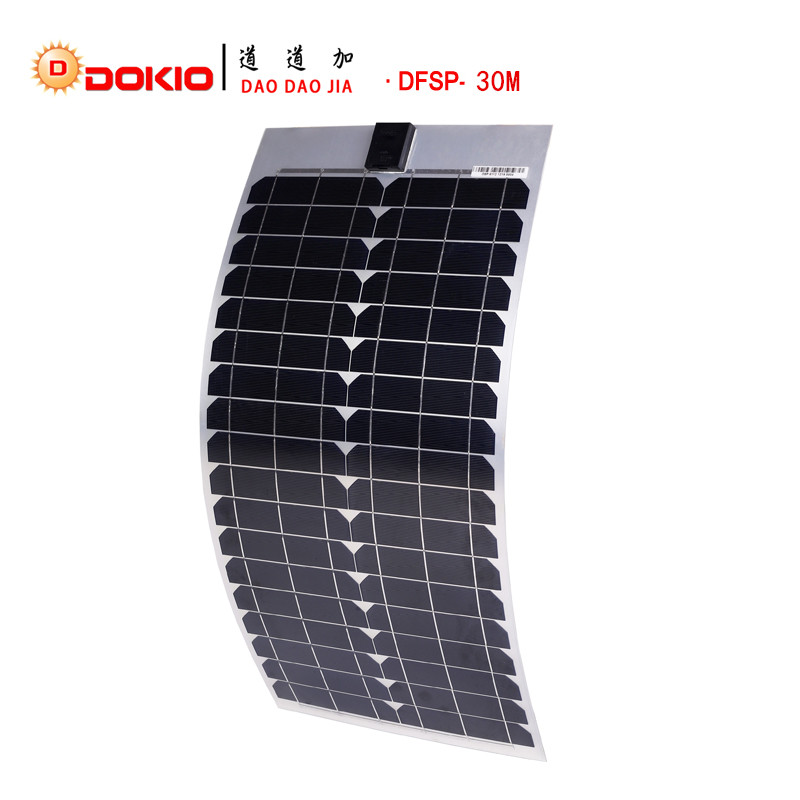 DOKIO Brand Flexible Solar Panel Monocrystalline Silicon 30W Solar Panels China 18V 700*330*20MM Size painel solar DFSP-30W painel solares 300w mono painel solar 12v solar panel battery charger solar panel manufacturers in china sun panels sfm 300w