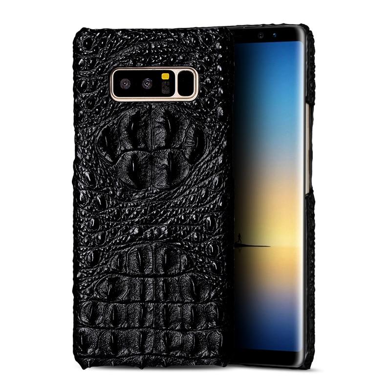 Luxury Phone Case For Smansung Galaxy S10 S10Lite S10Plus S9 Plus S8 S7 Edge Genuine Leather Crocodile For A8 J5 J7 Case