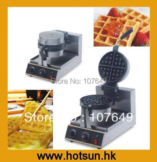 Rotating 220V Electric Belgian Waffle Baker Liege Waffle Maker Machine Iron