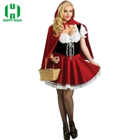 Halloween Costumes For Women Sexy Cosplay Little Red Riding Hood Fantasy Game Uniforms Fancy Dress Outfit S 3XL 4XL 5XL 6XL