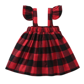 Seartist Baby Girls Dress Spring Belt Dresses Ruffle Sleeved Red Plaid Dress Baby Girl Clothes Girls Dresses 2020 New 35C girls ruffle hem plaid dress