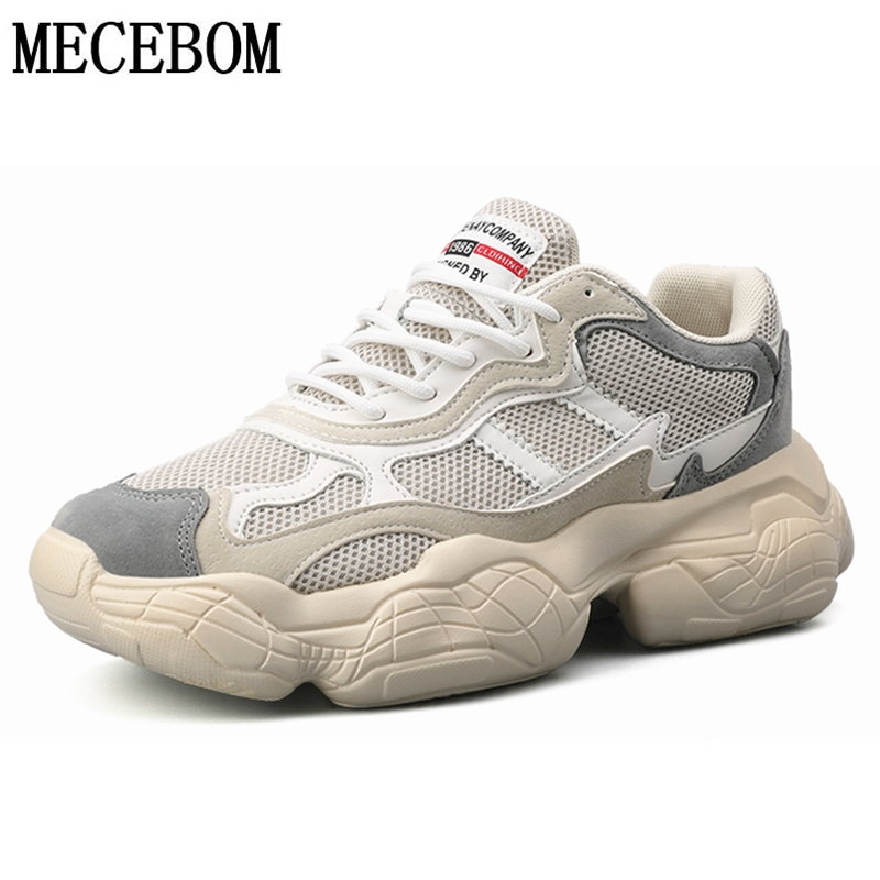 Men's Dad Shoes Fashion Web Celebrity Chunky Men Sneakers Quality Mesh Breathable Men Thick Sole Casual Shoes For Male 8020M