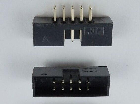 Lighting Accessories 1000 Pcs 1.27mm X1.27 Mm Box Header 2x6 Pin 12 Pin Dual Rows Through Hole Dip Type Straight Male Shrouded Pcb Idc Socket