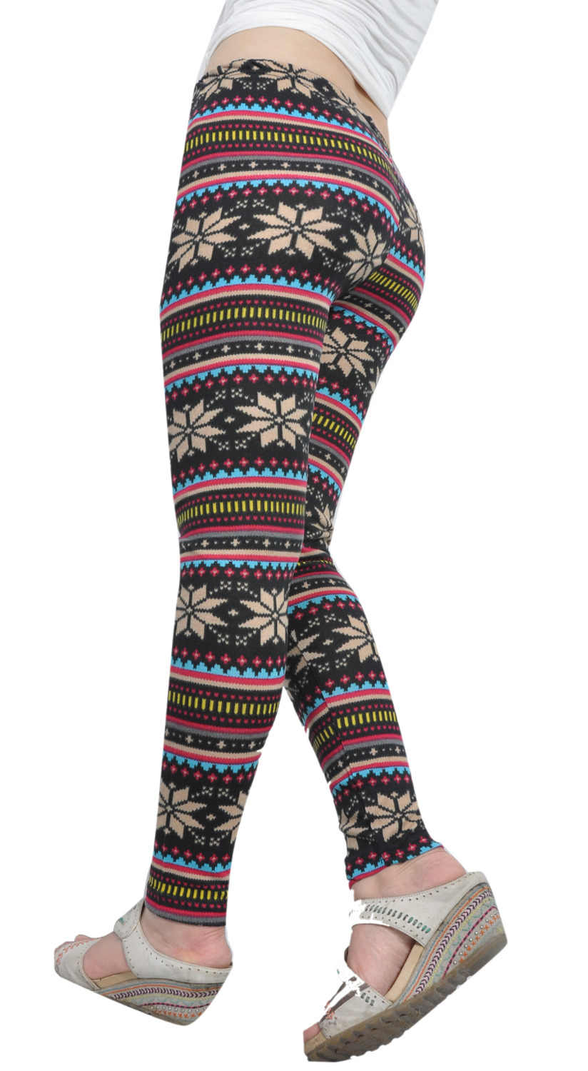 1fd8457663b2a5 ... Best Hot Winter Leggins Women Fleece Lined Ugly Christmas Legs Tribal  Snowflake Pattern Thicken Winter Women ...