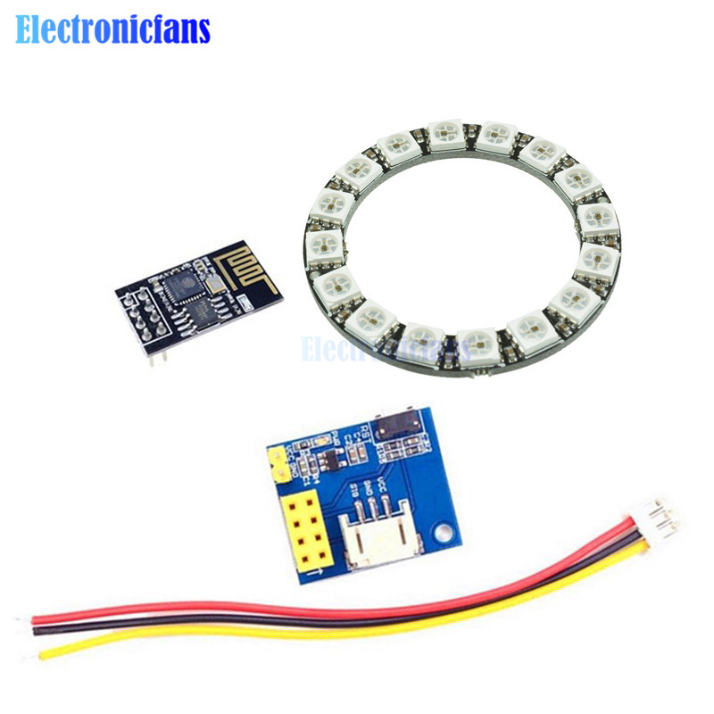 Active Components Selfless Esp8266 Esp-01 Esp-01s Rgb Led Controller Adpater Wifi Module For Arduino Ide Ws2812 Ws2812b 16 Bits Light Ring Christmas Diy To Have A Long Historical Standing