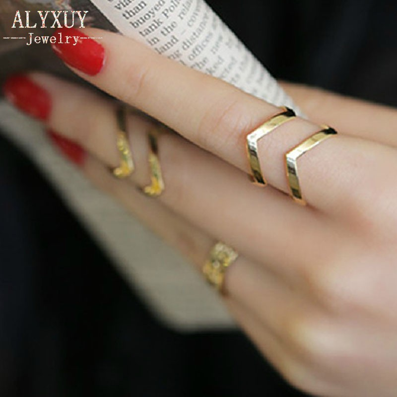Fashion accessories jewelry New  punk cuff finger ring set gift  for women girl wholesale  R1364