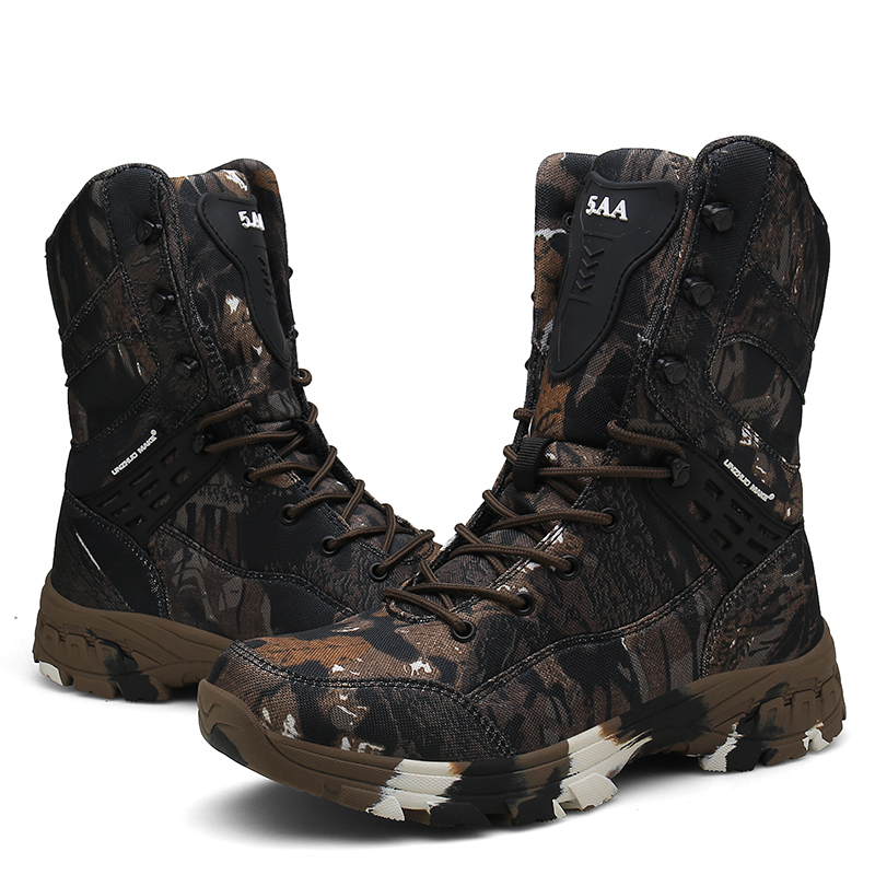 Cunge Outdoor Tactical Military Boots Men Desert Combat Army Boots Winter Ankle Boots Male Hiking Shoes Camouflage Hunting Boots