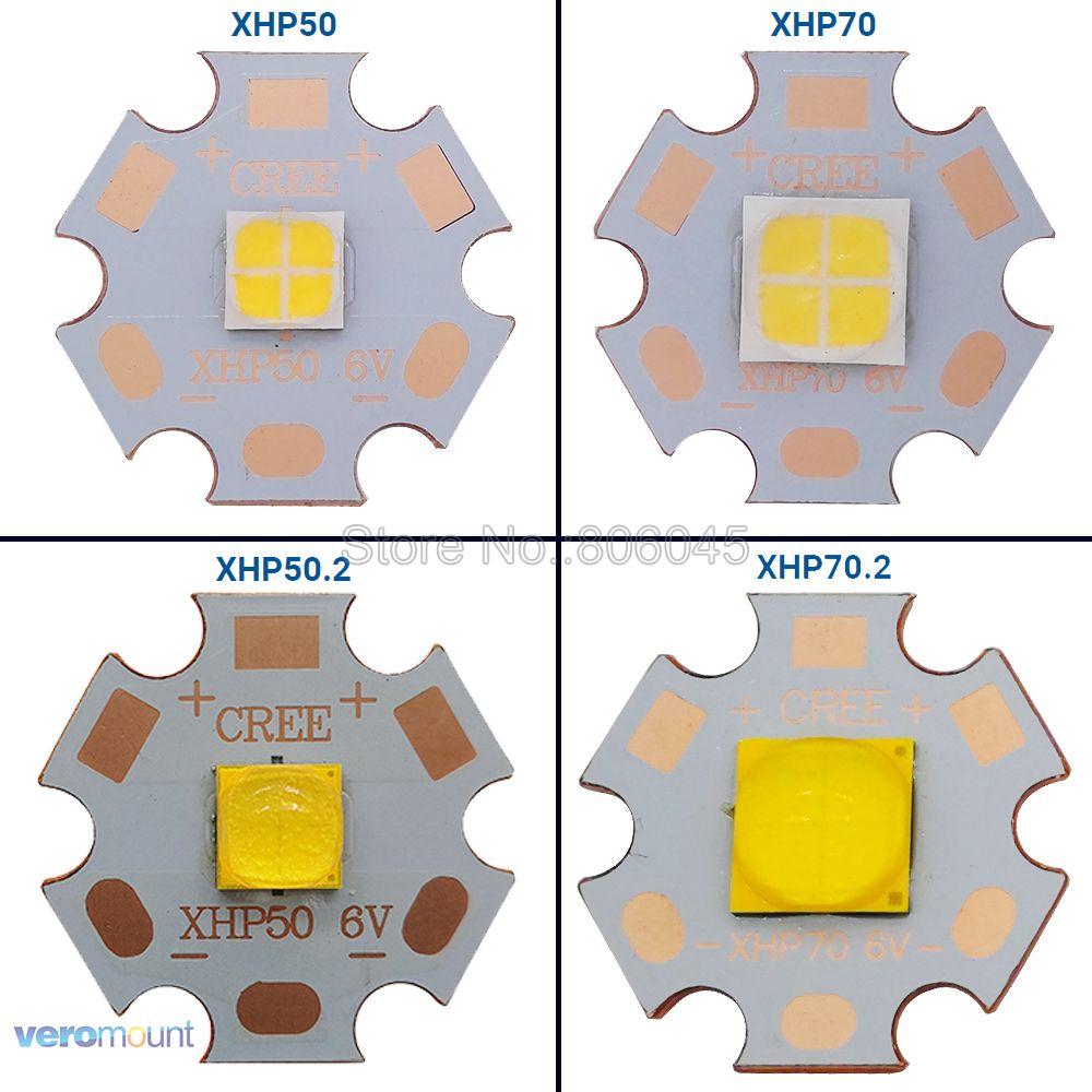 CREE XHP50 XHP50.2 XHP70 XHP70.2 2nd 世代のクールなホワイトニュートラルホワイトウォームホワイト LED エミッタ 6V 12V で 16 ミリメートル 20 ミリメートルの銅 Pcb