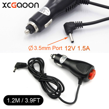XCGaoon 3.5mm Port Car Charger Adapter for Car Radar Detector DVR Camera input DC 12V-24V Output 12V 1.5A Length 1.2meter 3.9ft image