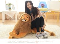 huge plush simulation lion toy lovely big lying lion doll birthday gift about 110cm