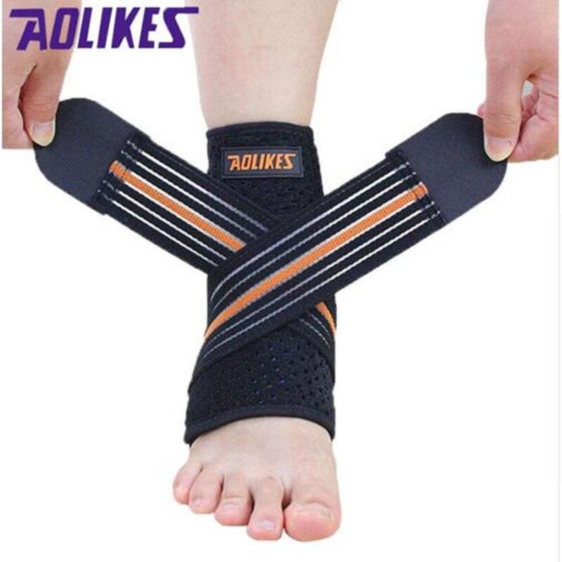 1 PC Esporte respirável Ankle Brace Protector Suporte Ajustável Tornozelo Proteção Pad Elastic Brace Suporte Guarda Futebol HBK086