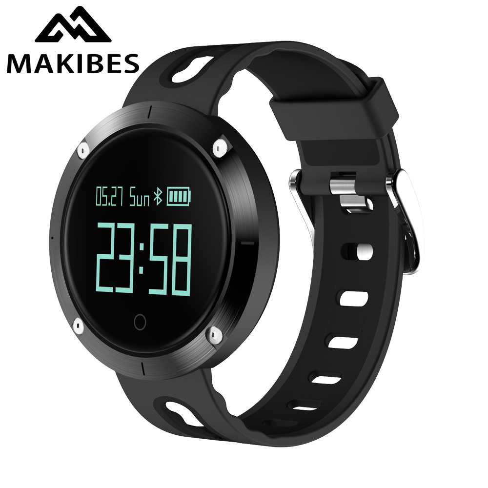 Makibes DM58 Smart Bracelet Blood Pressure Heart Rate Monitor IP68 waterproof Call reminder Activity Tracker Smart Band смартфон samsung galaxy s7 edge 32gb sm g935fd silver titanium android 6 0 marshmallow exynos 8890 2300mhz 5 5 2560х1440 4096mb 32gb 4g lte 3g edge hsdpa hsupa [sm g935fzsuser]