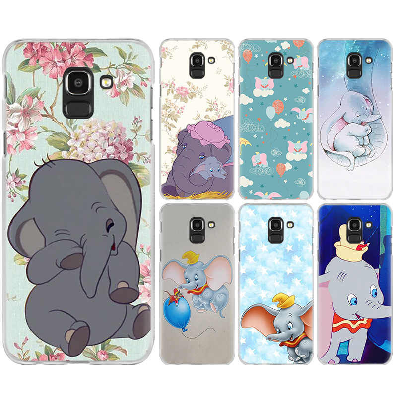 Animation Dumbo Case Cover for Samsung Galaxy A50 A70 A60 A40 A30 A20e A10 A9 A8 A7 A6 A5 J8 J7 J6 J5 J4 Plus Prime 2017 2018