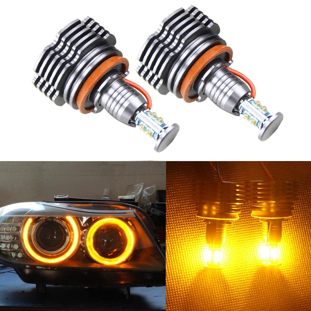Super Bright 40W High Power H8 LED Angel Eyes Halo Ring Bulb for BMW BMW X5 E70 X6 E71 E90 E91 E92 M3 Auto Car Light Source
