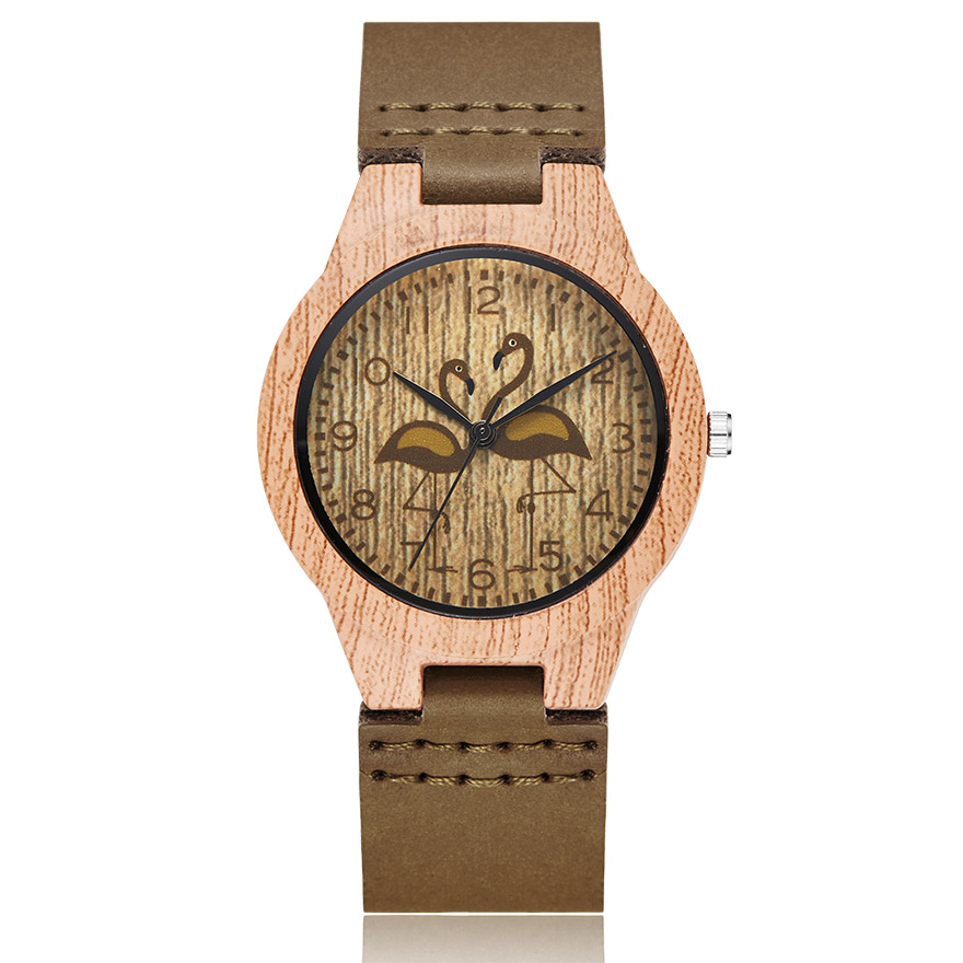 Imitate Wood Watch Men Women Couple Imitation Wooden Watches Ostrich Deer Animal Man Wristwatch Male Quartz Wrist Clock Reloj