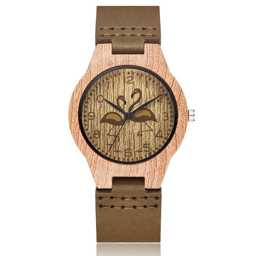Imitate Wood Watch Men Women Couple Imitation Wooden Watches Ostrich Deer Animal Man Wristwatch Male Quartz Wrist Clock Reloj